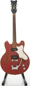 Musical Instruments:Electric Guitars, Early 1970's Mosrite Celebrity Red Semi-Hollow Body ElectricGuitar, #A0497....
