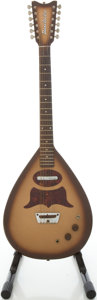 Musical Instruments:Electric Guitars, Circa late 1950's Danelectro Bellzouki Brown Solid Body ElectricGuitar....