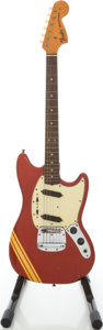 Musical Instruments:Electric Guitars, 1971 Fender Mustang Competition Red Solid Body Electric Guitar,#305861....