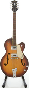 Musical Instruments:Electric Guitars, Early 1960's Gretsch Double Anniversary Sunburst Semi-Hollow BodyElectric Guitar, #110894....