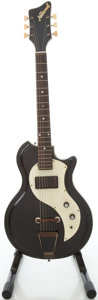 Musical Instruments:Electric Guitars, 1962 National Res-O-Glas Black Semi-Hollow Body Electric Guitar,#G35406....