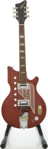 Musical Instruments:Electric Guitars, Circa 1965 National Westwood 77 Cherry Solid Body Electric Guitar,#1-12306....