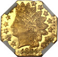 California Fractional Gold, 1875 25C Indian Octagonal 25 Cents, BG-798, Low R.5, MS66 ProoflikeNGC....