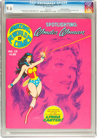 Amazing World of DC Comics #15 Wonder Woman (DC, 1977) CGC NM+ 9.6 White pages