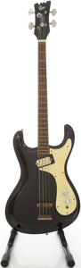 Musical Instruments:Bass Guitars, Late 1960s Mosrite The Ventures Black Electric Bass Guitar, #5761...