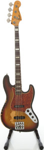 Musical Instruments:Bass Guitars, 1975 Fender Jazz Sunburst Electric Bass Guitar, Serial # 607237...
