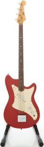 Musical Instruments:Bass Guitars, Mid-1960's Vox Panther Red Electric Bass Guitar, Serial #41968...