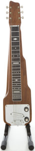 Musical Instruments:Lap Steel Guitars, Circa Early 1950's Magnatone Mahogany Lap Steel Guitar, #50666....