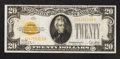 Small Size:Gold Certificates, Fr. 2402 $20 1928 Gold Certificate. Very Fine.. ...