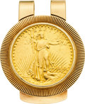 Estate Jewelry:Other , Gold Coin, Gold Money Clip. ...
