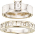 Estate Jewelry:Rings, Diamond, White Gold Rings. ...