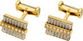 Estate Jewelry:Cufflinks, Gentleman's Gold, Stainless Steel Cuff Links, Fred, French, circa1985. ...