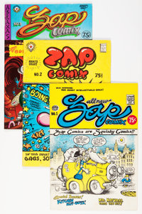 Zap Comix Group including R. Crumb Signed Comic (Apex Novelties, 1970s-2000s).... (Total: 9 Comic Books)