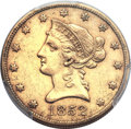 Liberty Eagles, 1852-O $10 AU50 PCGS. Variety 2....