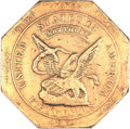 Territorial Gold, 1851 $50 RE Humbert Fifty Dollar, Reeded Edge, 887 Thous. AU50 NGC.K-7, R.4....