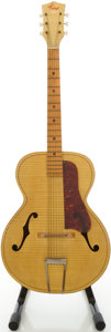 Musical Instruments:Acoustic Guitars, 1950's Kay Cream Archtop Acoustic Guitar....