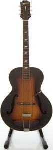 Musical Instruments:Acoustic Guitars, 1945 Epiphone Blackstone Sunburst Archtop Acoustic Guitar,#52815....