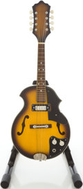 Musical Instruments:Banjos, Mandolins, & Ukes, Circa Early 1970's Teisco Sunburst Electric Mandolin....