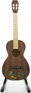 Musical Instruments:Acoustic Guitars, Circa 1940's Regal-Style Hawaiian Parlor Acoustic Guitar....