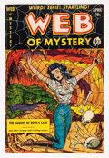 Golden Age (1938-1955):Horror, Web of Mystery #8 (Ace, 1952) Condition: FN/VF....