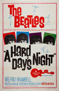 Music Memorabilia:Posters, Beatles A Hard Day's Night Movie Poster (United Artists, 1964)....