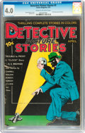 Platinum Age (1897-1937):Miscellaneous, Detective Picture Stories #5 (Comics Magazine, 1937) CGC VG 4.0Cream to off-white pages....