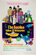Music Memorabilia:Posters, Beatles Yellow Submarine Movie Poster (United Artists,1968)....