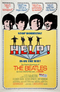 Music Memorabilia:Posters, Beatles Help! Movie Poster (United Artists, 1965)....
