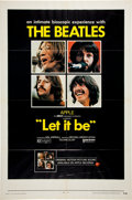 Music Memorabilia:Posters, Beatles Let It Be Movie Poster (United Artists, 1970)....