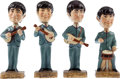 Music Memorabilia:Memorabilia, Beatles Bobbin' Head Figures (Car Mascots, Inc., 1964).... (Total:4 Items)