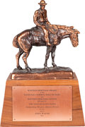 "Movie/TV Memorabilia:Awards, A John Wayne Award for ""The Sons of Katie Elder,"" 1965...."