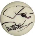 Movie/TV Memorabilia:Autographs and Signed Items, A Paul Newman and Tom Cruise Signed Cue Ball....