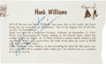 Music Memorabilia:Autographs and Signed Items, Hank Williams Sr. Autograph Cut from Vintage Program....
