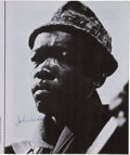 Music Memorabilia:Autographs and Signed Items, John Lee Hooker, Otis Spann and Others Signed 1969 UK Festival Brochure....