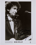 Music Memorabilia:Autographs and Signed Items, Bob Dylan Autographed Publicity Photo....