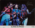 Music Memorabilia:Autographs and Signed Items, The Beatles - George Harrison, Bob Dylan, and Leon Russell SignedPhoto....