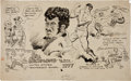 Original Comic Art:Comic Strip Art, Tom Doerer Sports Cartoon Original Art (Baltimore American, c.1930)....