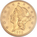 Liberty Double Eagles, 1859-S $20 AU55 NGC....
