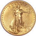 High Relief Double Eagles, 1907 $20 High Relief, Wire Rim MS63 PCGS. CAC....