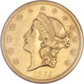 Liberty Double Eagles, 1855 $20 AU55 NGC....