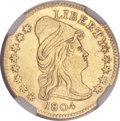 Early Quarter Eagles, 1804 $2 1/2 14 Star Reverse -- Bent, Repaired, Cleaned -- NGCDetails. AU. BD-2, R.4....