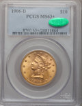 Liberty Eagles, 1906-D $10 MS63+ PCGS. CAC....