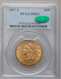 Liberty Eagles, 1897-S $10 MS62 PCGS. CAC....