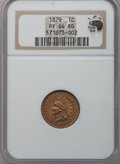 Proof Indian Cents: , 1879 1C PR64 Red NGC. Ex: Eagle Eye Photo Seal. NGC Census:(20/78). PCGS Population (45/77). Mintage: 3,200. Numismedia Ws...