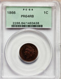 Proof Indian Cents: , 1866 1C PR64 Red and Brown PCGS. PCGS Population (82/55). NGCCensus: (36/88). Mintage: 725. Numismedia Wsl. Price for prob...