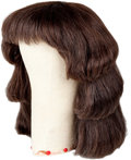"Movie/TV Memorabilia:Memorabilia, An Elizabeth Taylor Wig from ""Cleopatra.""... (Total: 2 Items)"