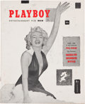 Movie/TV Memorabilia:Memorabilia, A Marilyn Monroe-Related First Issue of Playboy Magazine,1953....