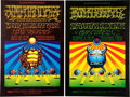 Music Memorabilia:Posters, Jimi Hendrix/Iron Butterfly Winterland/Fillmore West Concert PosterGroup Signed by Artists Moscoso and Rick Griffin (Bill Gra...(Total: 2 Items)