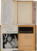 Movie/TV Memorabilia:Autographs and Signed Items, A Humphrey Bogart and a Lauren Bacall Set of Signed Books, 1940s....