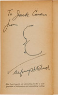 """Movie/TV Memorabilia:Autographs and Signed Items, An Alfred Hitchcock Signed """"Marnie"""" Paperback...."""